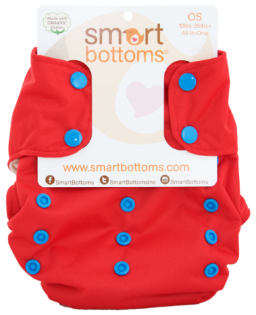 smart bottoms 3.1 organic one size all in one cloth diaper - Superhero