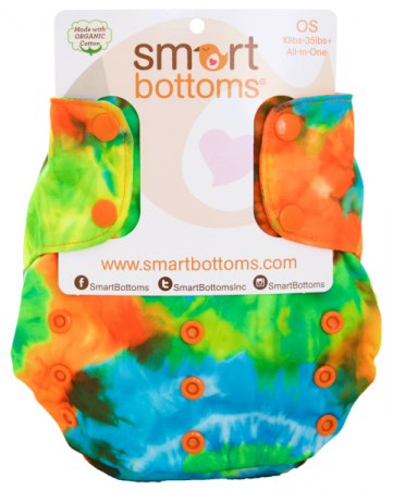 smart bottoms 3.1 organic one size all in one cloth diaper -  Tie Dye