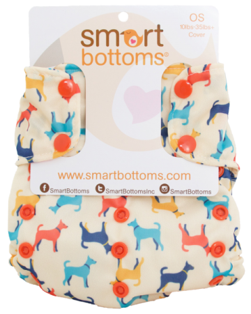 smart bottoms one size too smart diaper cover - Rover