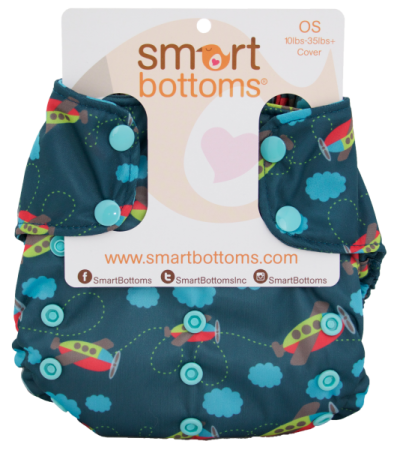 smart bottoms one size too smart diaper cover - aviator