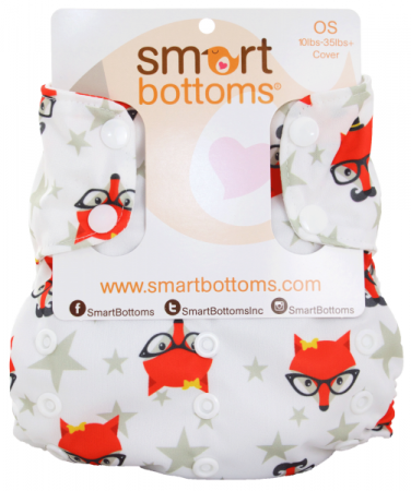 smart bottoms one size too smart diaper cover -  Fantastic Hipster Fox