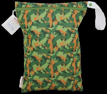 smart bottoms wet bag -  Camo Dino