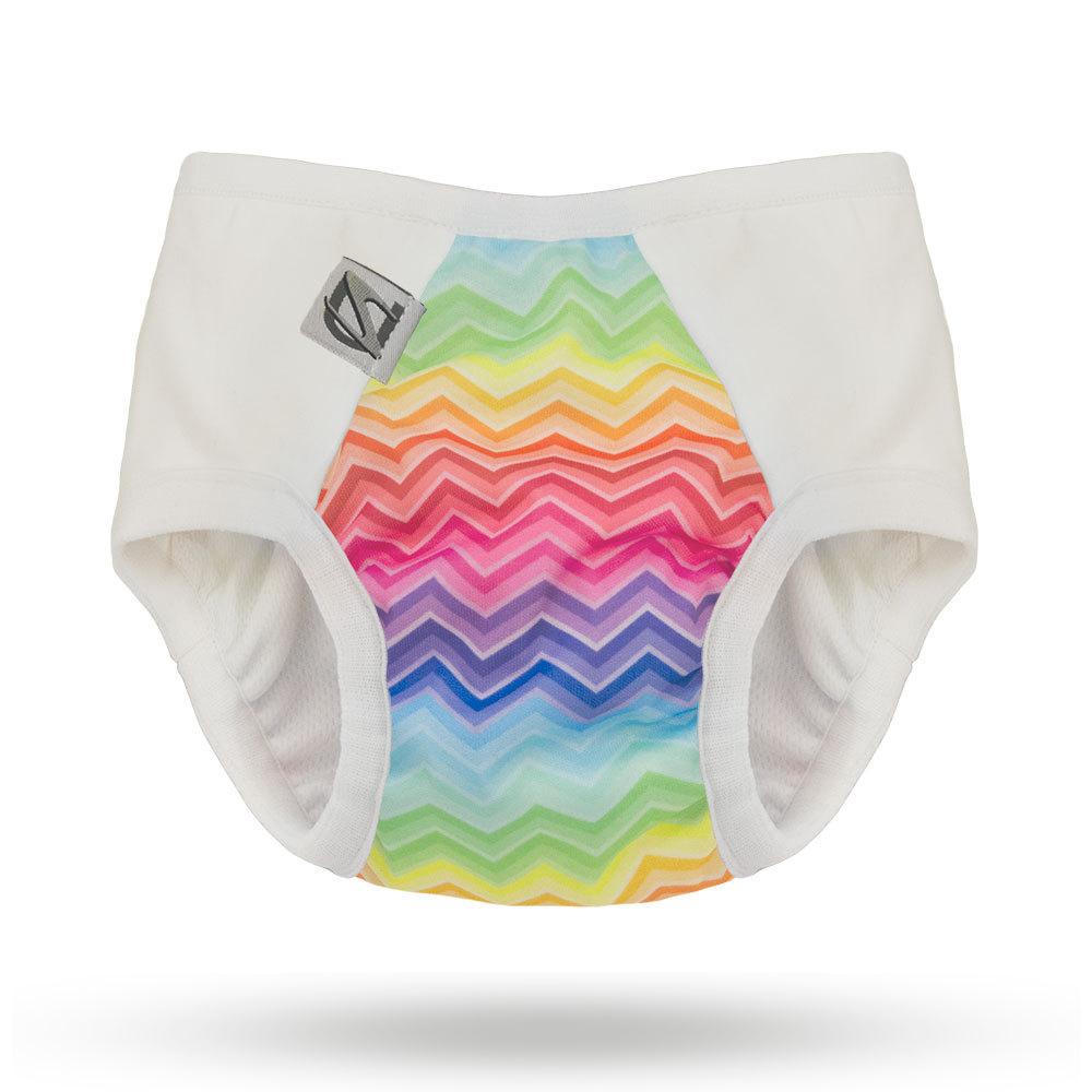 super undies 2.0 pull on trainers -  Rainbow Bright