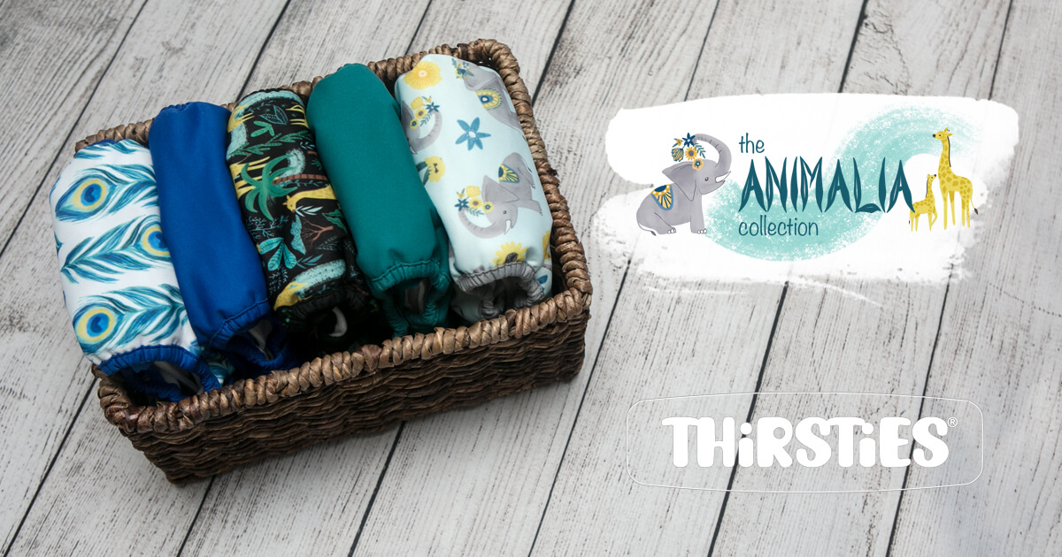 thirsties cloth diapers - new release set a sail and flutter by