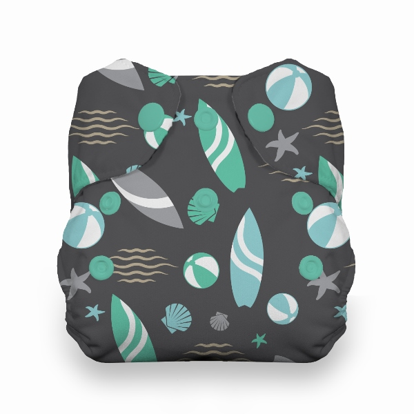 Thirsties One Size All in One Cloth Diaper - Snap -  Beach Party