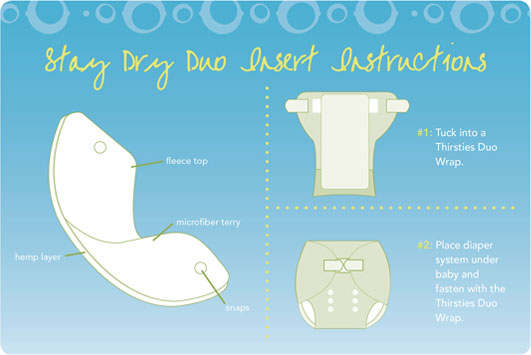 thirsties stay dry duo insert instruction