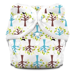 Thirsties Duo Cloth Diapers snap - blackbird