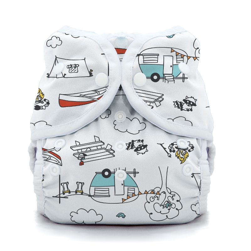 thiristies duo wrap diaper cover - Happy Camper