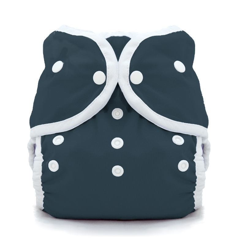 thiristies duo wrap diaper cover - Midnight Blue