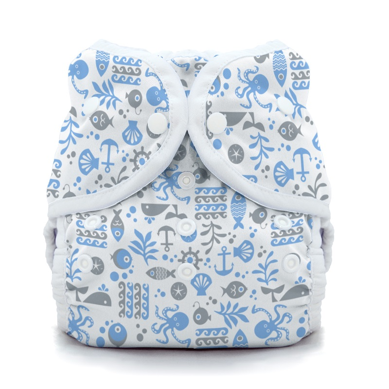 thiristies duo wrap diaper cover - Ocean Life