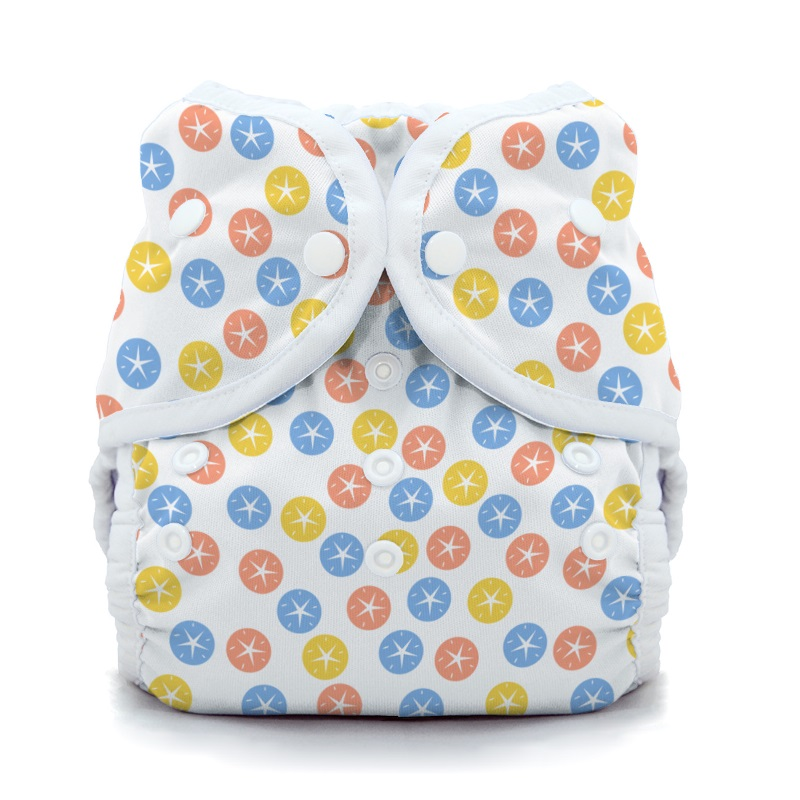 thiristies duo wrap diaper cover - Sand Dollar