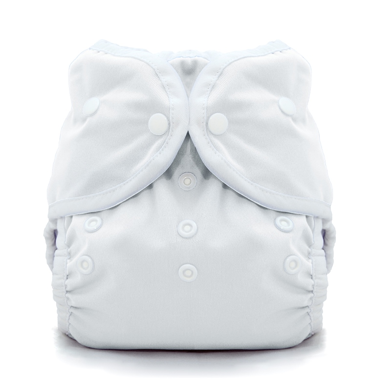 thiristies duo wrap diaper cover - White