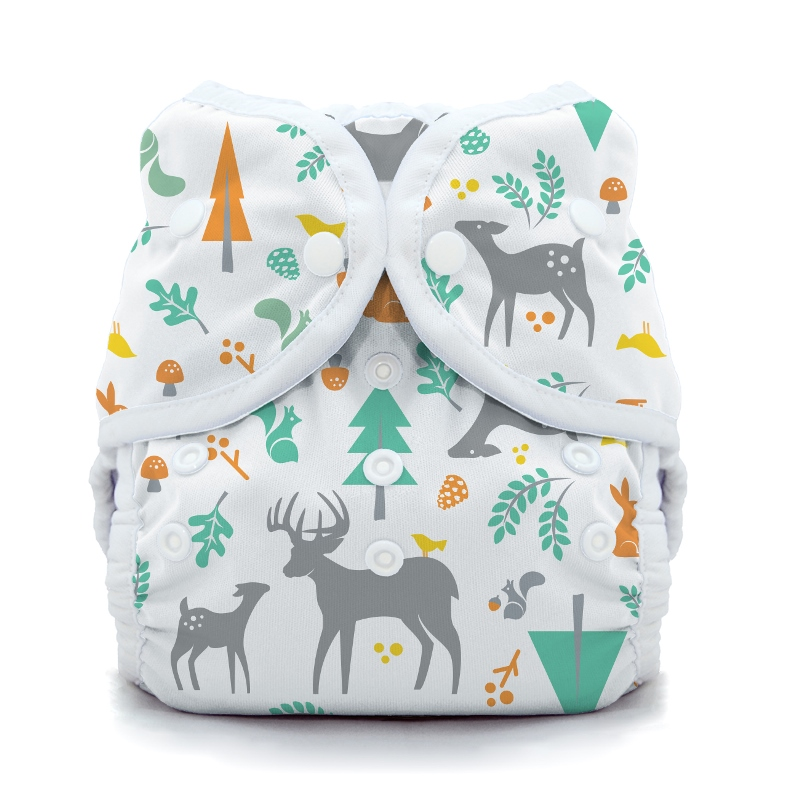 thiristies duo wrap diaper cover - Woodland