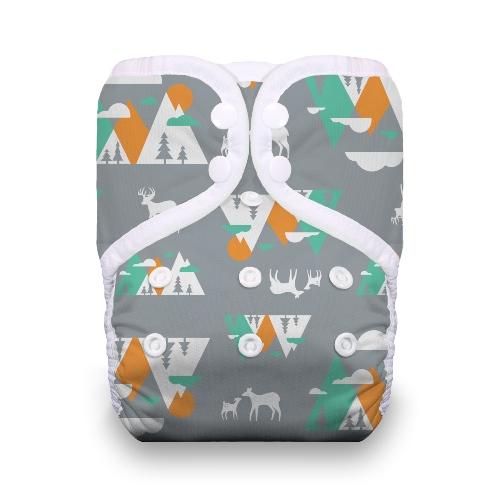 thiristies one size diaper - Mountain Range