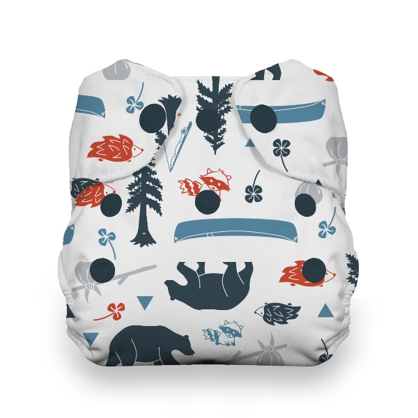 Thirsties One Size All in One Cloth Diaper - Snap - Adventure Trail