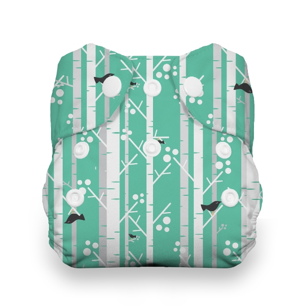 Thirsties One Size All in One Cloth Diaper - Snap - Aspen Grove