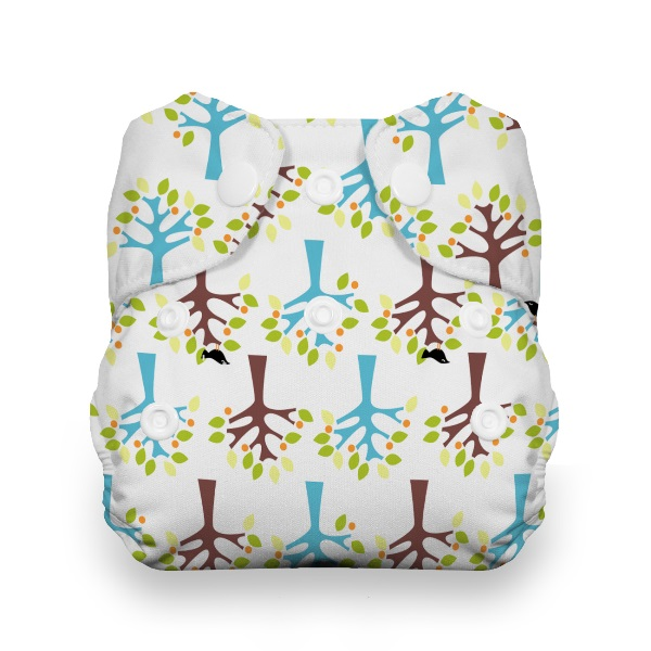 Thirsties One Size All in One Cloth Diaper - Snap - Blackbird