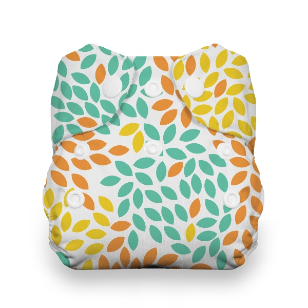 Thirsties One Size All in One Cloth Diaper - Snap - Fallen Leaves