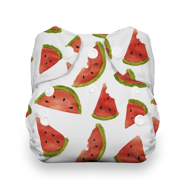 Thirsties One Size All in One Cloth Diaper - Snap - Melon Party