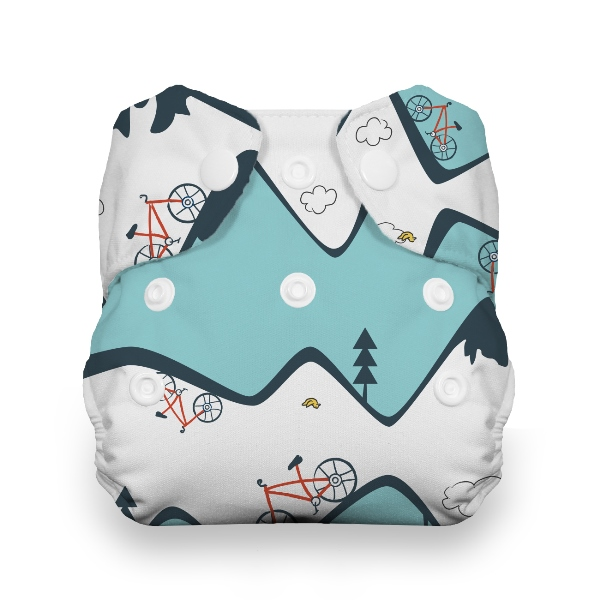 Thirsties One Size All in One Cloth Diaper - Snap - Mountain Bike