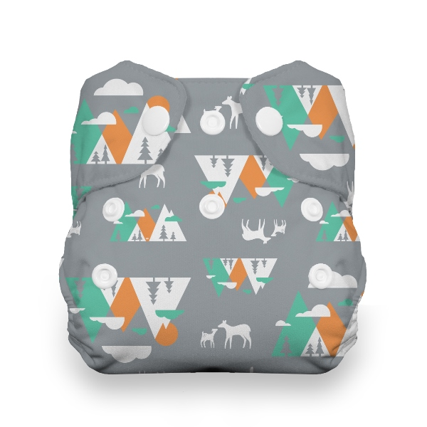 Thirsties One Size All in One Cloth Diaper - Snap - Mountain Range