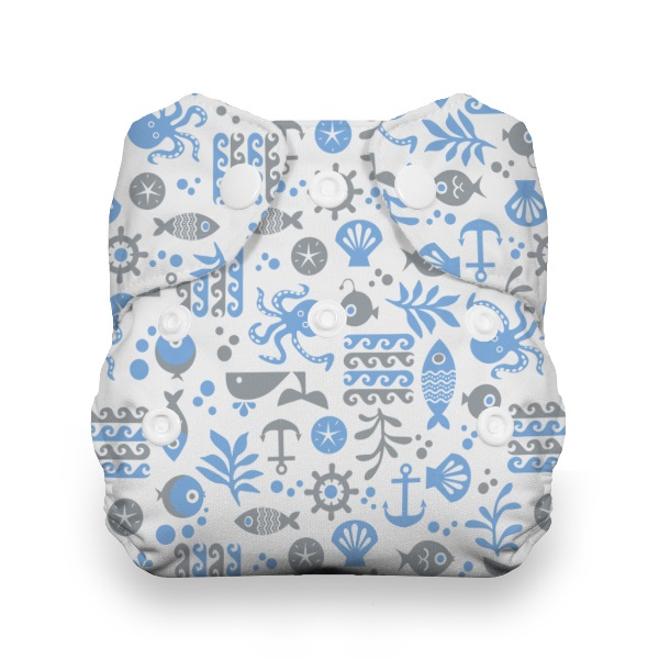 Thirsties One Size All in One Cloth Diaper - Snap - Ocean Life