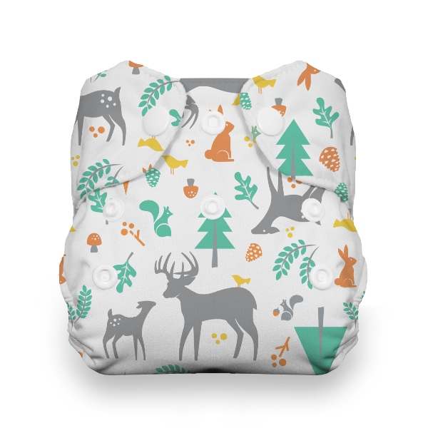 Thirsties One Size All in One Cloth Diaper - Snap - Woodland