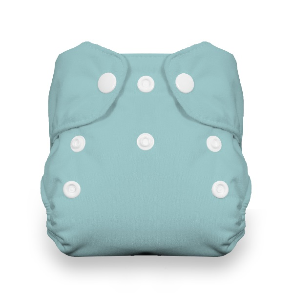Thirsties One Size All in One Cloth Diaper - Snap - White