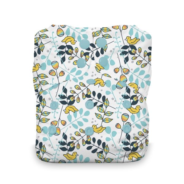 Thirsties One Size All in One Cloth Diaper - Snap - Birdie