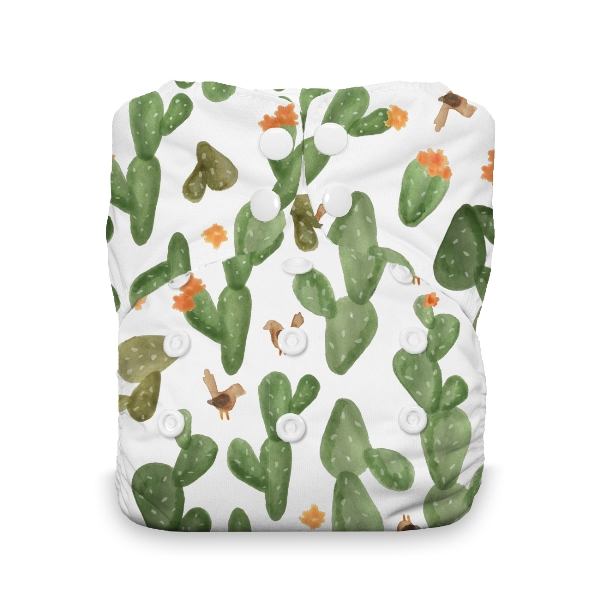 Thirsties One Size All in One Cloth Diaper - Snap - Cactus Garden