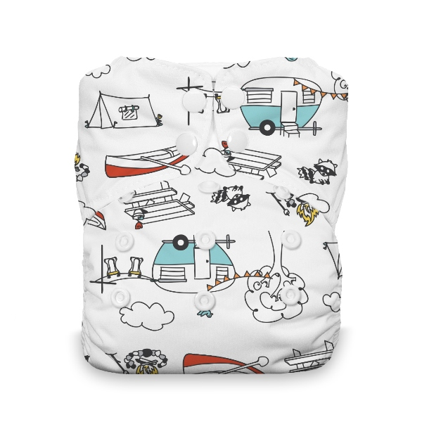 Thirsties One Size All in One Cloth Diaper - Snap - Happy Camper