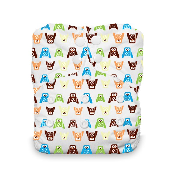 Thirsties One Size All in One Cloth Diaper - Snap - Hoot