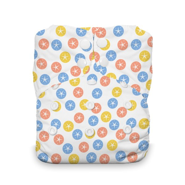 Thirsties One Size All in One Cloth Diaper - Snap - Sand Dollar