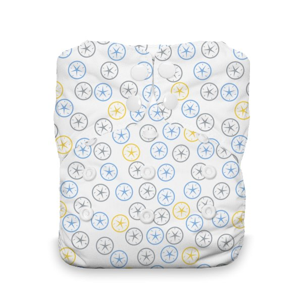Thirsties One Size All in One Cloth Diaper - Snap - Silver Dollar