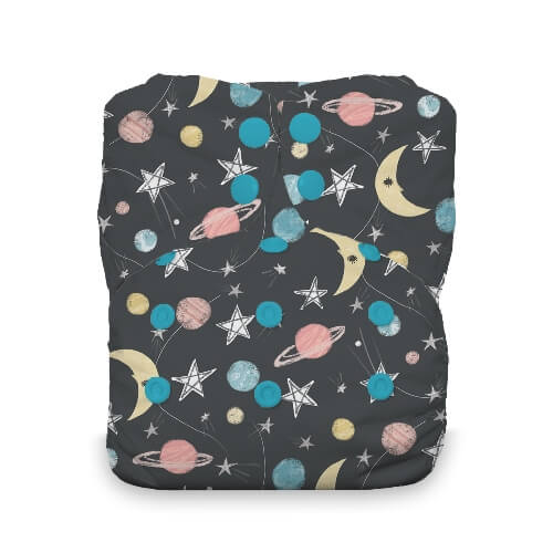 Thirsties One Size All in One Cloth Diaper - Snap -  Stargazer