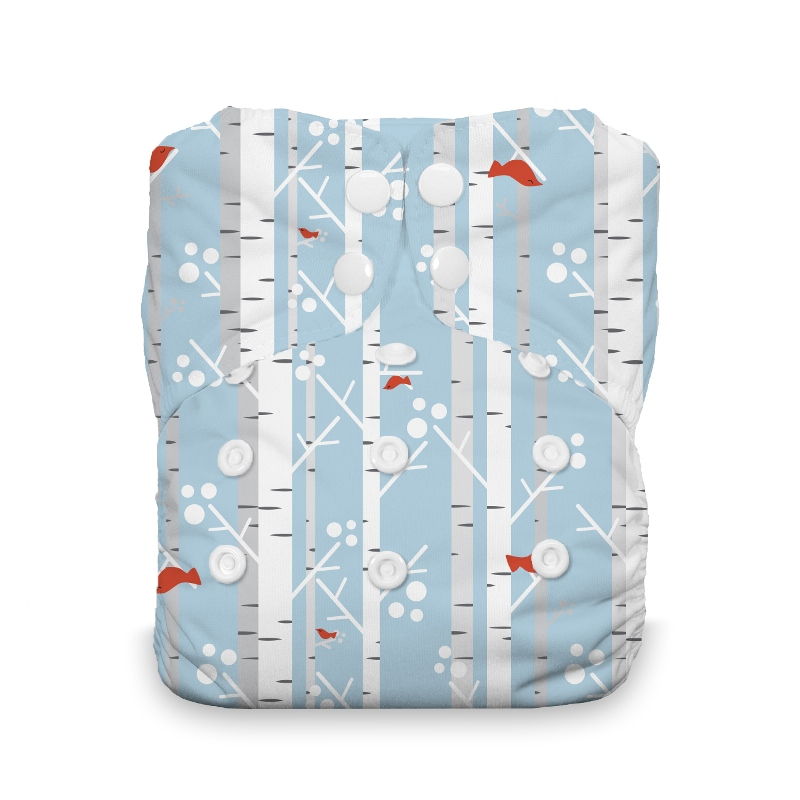 Thirsties One Size All in One Cloth Diaper - Snap -  Winter Woods