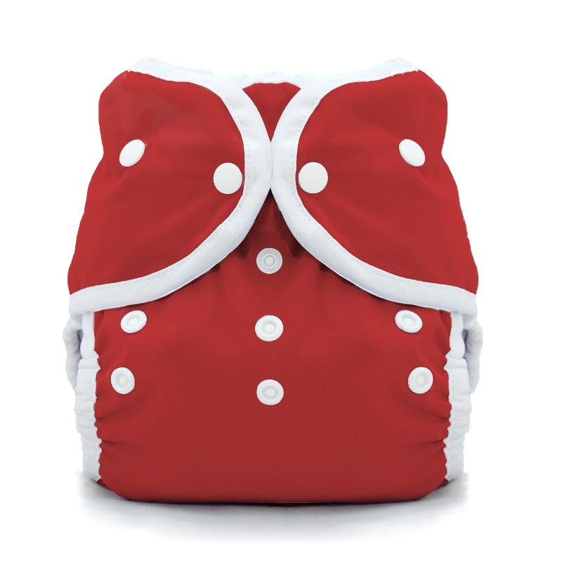 thiristies duo wrap diaper cover - scarlet