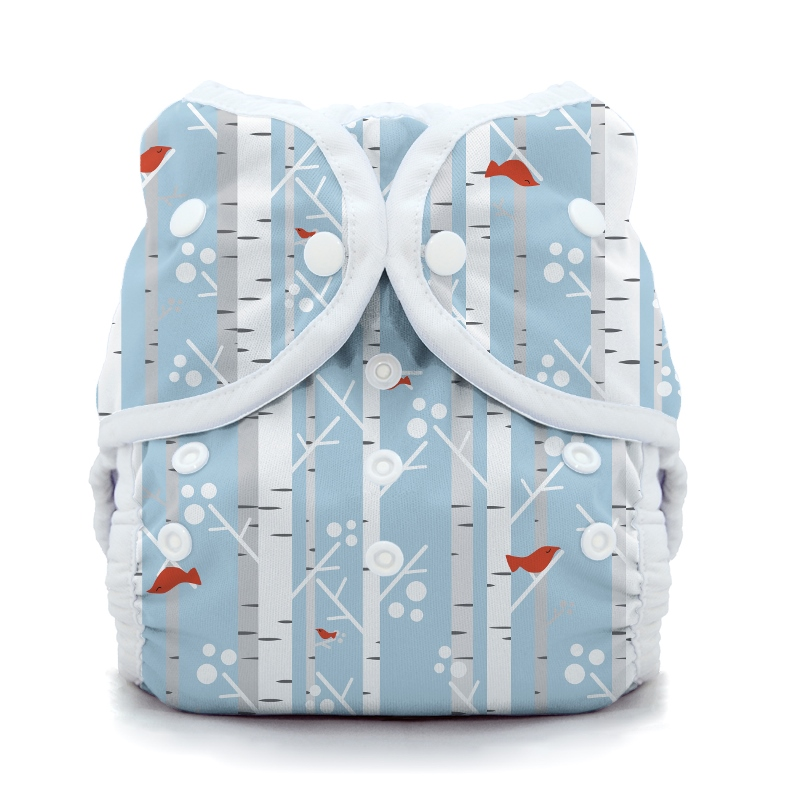 thiristies duo wrap diaper cover -  Winter Woods