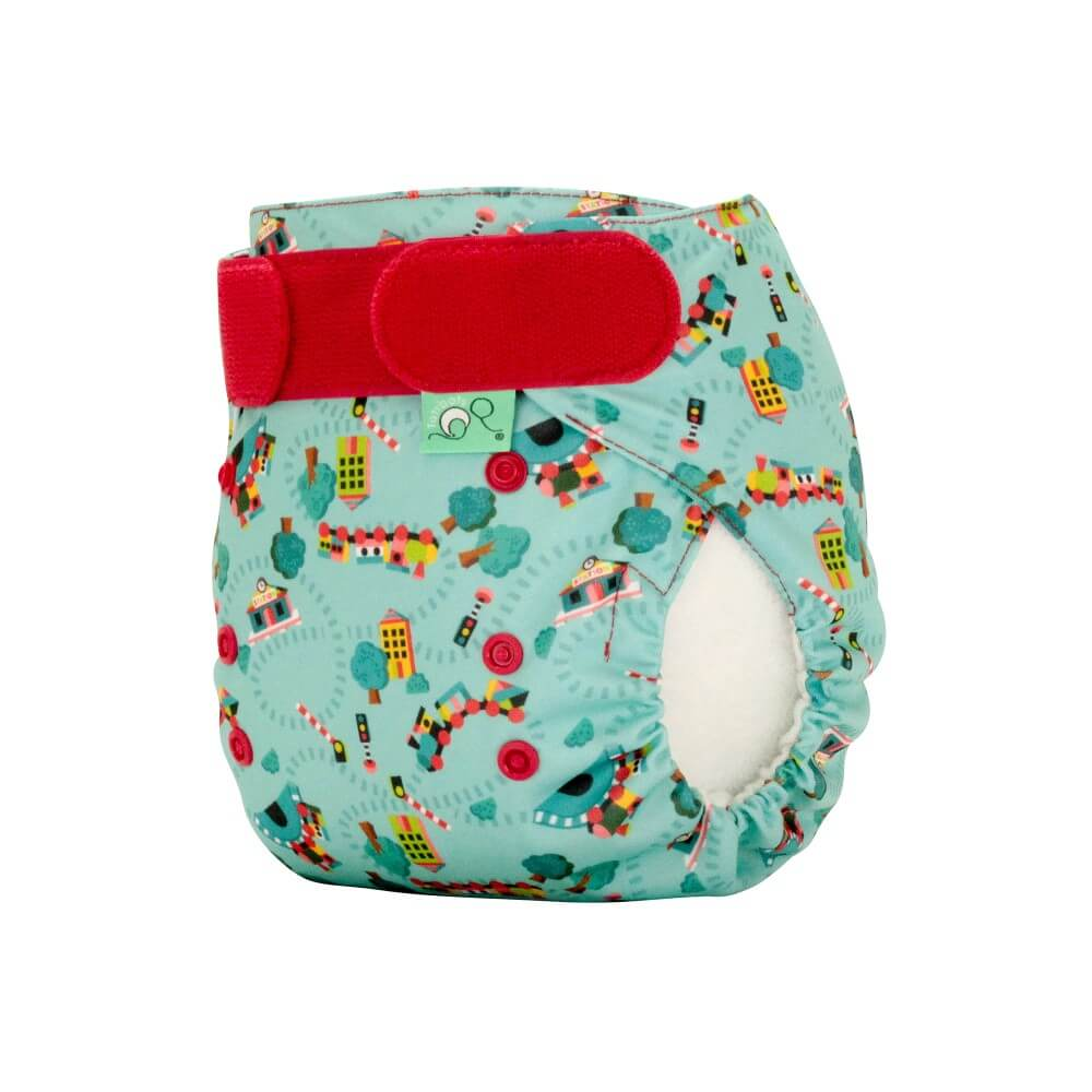 tots bots easy fit cloth diaper - Choo Choo