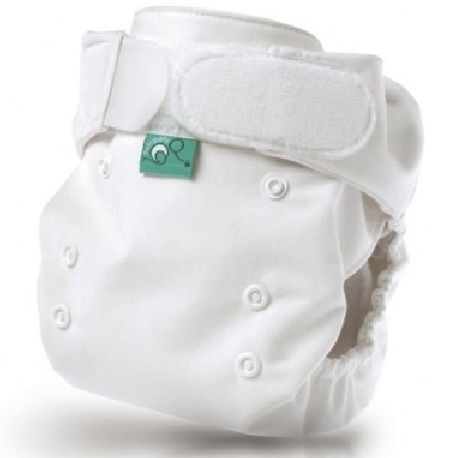 tots bots easy fit cloth diaper - White