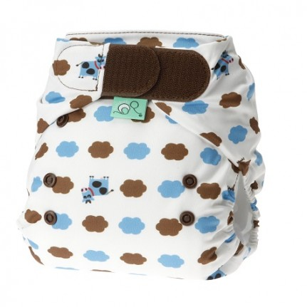 tots bots easy fit cloth diaper -  Blue Moo