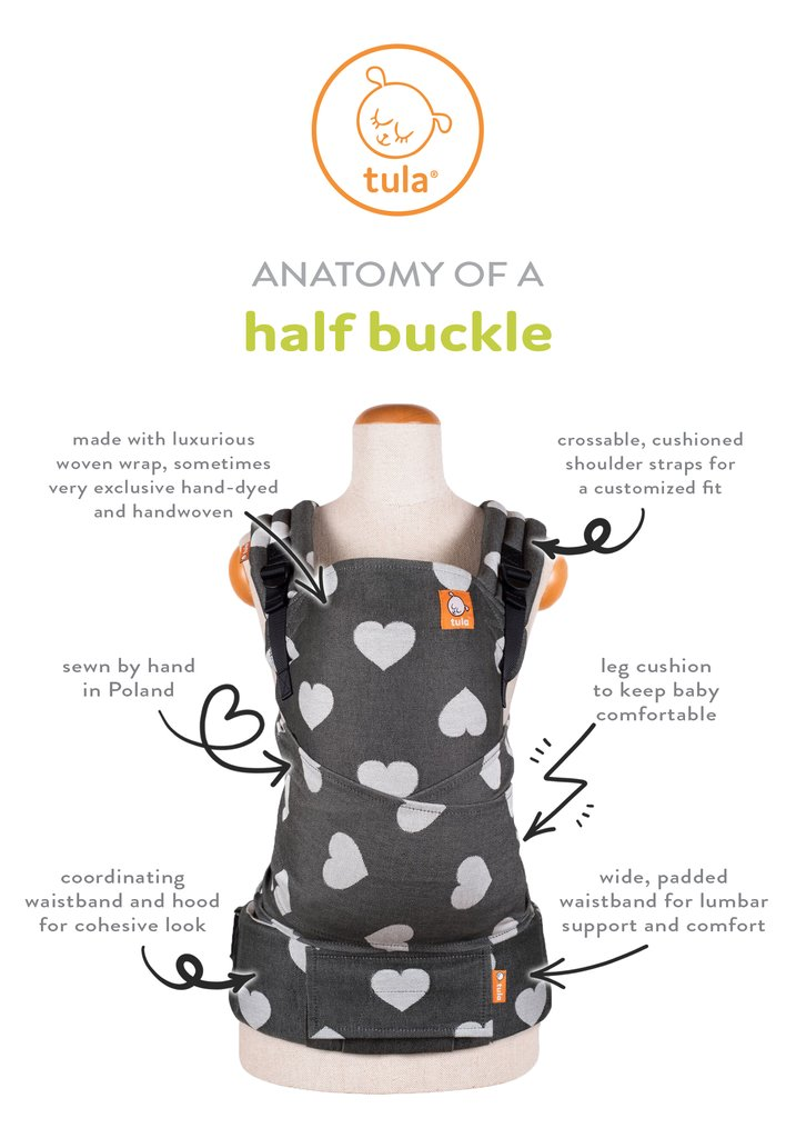baby tula half buckle carriers