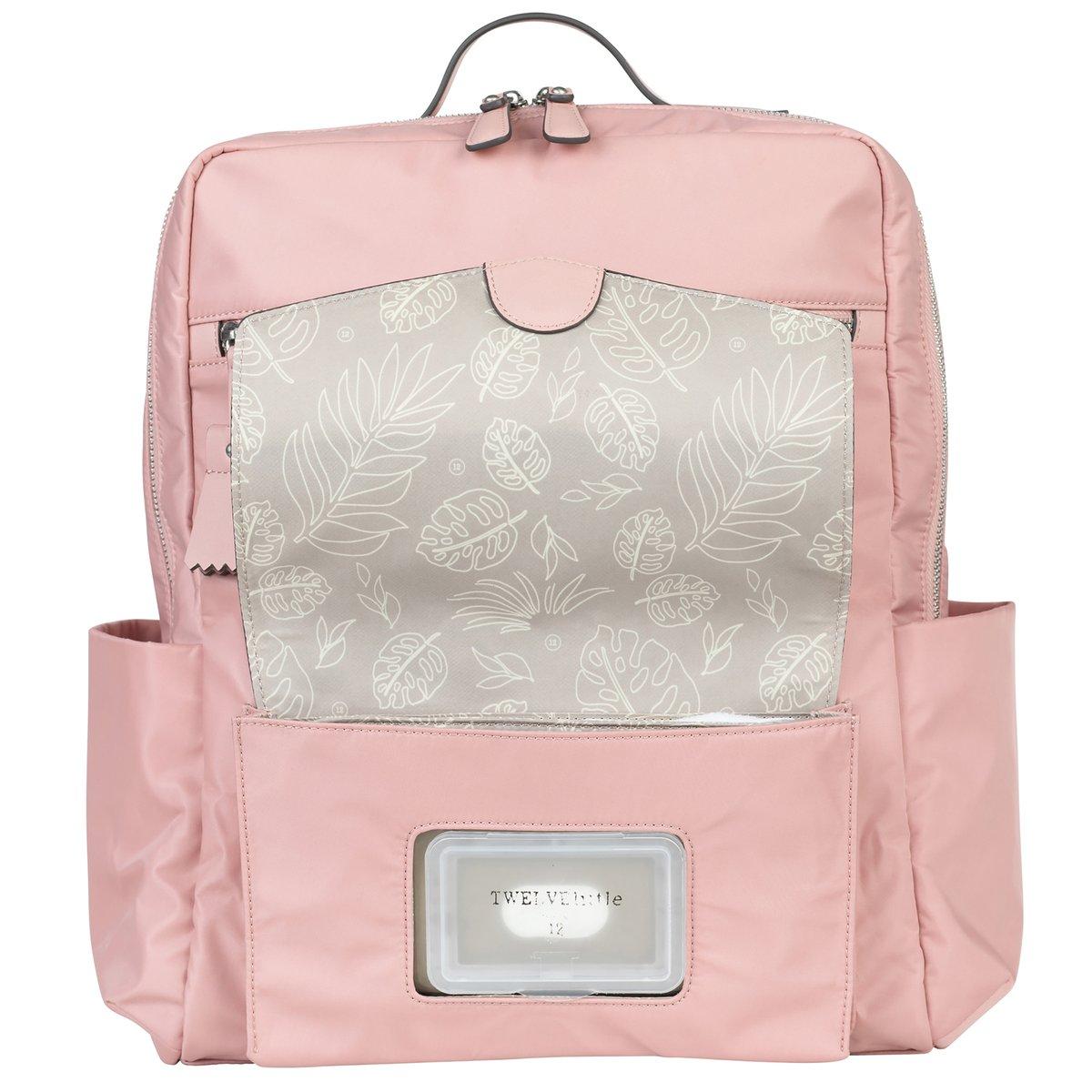 Twelvelittle Peek A Boo Backpack Diaper Bag Blush Pink