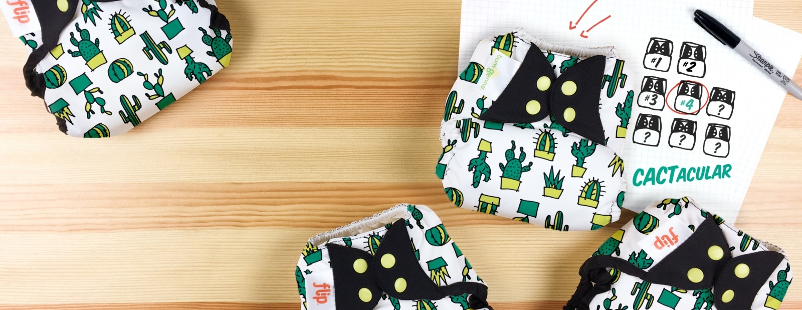 bumgenius doodles collection diaper - cactacular