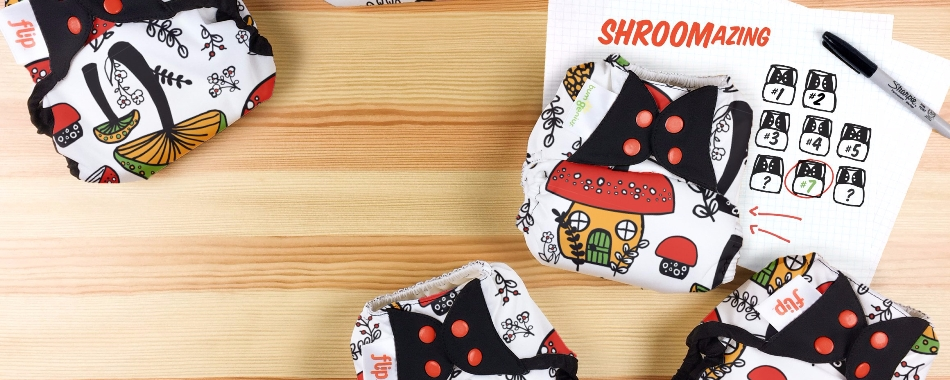 bumgenius doodles collection diaper - shroomazing