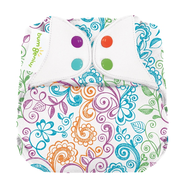 bumGenius elemental one size cloth diapers with snaps - Lovelace