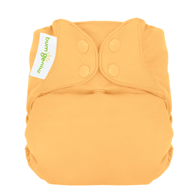 bumGenius 5.0 one size cloth diapers with snaps - clementine