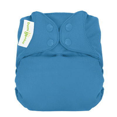 bumGenius 5.0 one size cloth diapers with snaps - Moonbeam