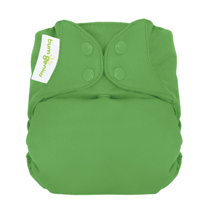 bumgenius organic one size diaper - Ribbit