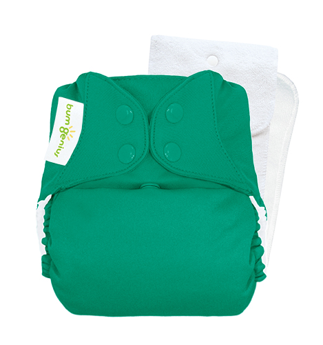 bumGenius 5.0 one size cloth diapers with snaps - Hummingbird